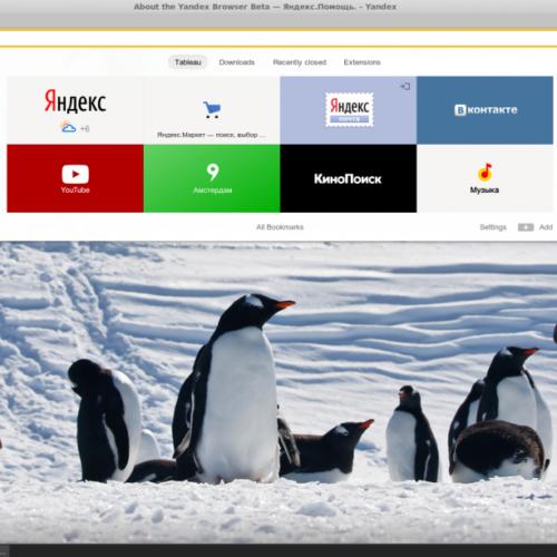 Yandex browser. Έχει μπει δυναμικά στο Linux.